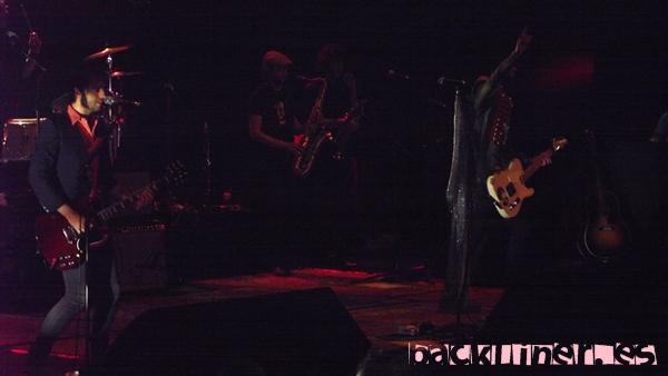 Juancho y Leiva durante el concierto en Murcia